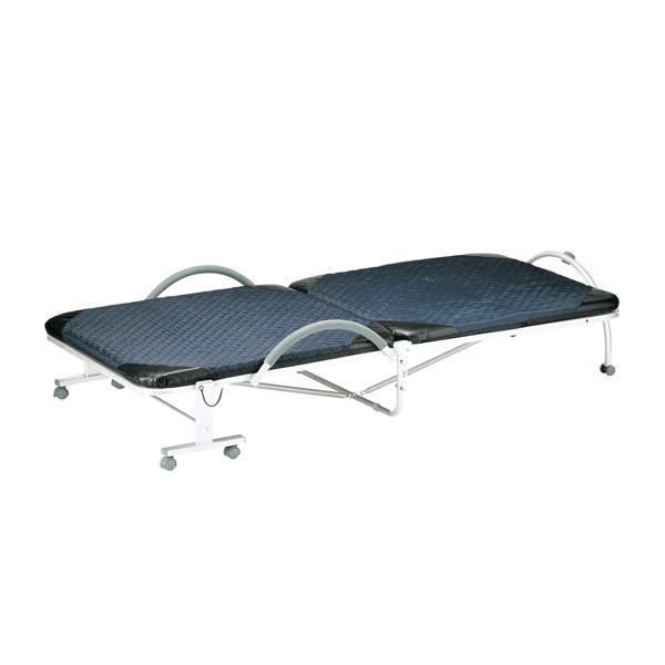 折りたたみベッド シングル 幅99cm 手すり付き 折り畳み ベッド ( 送料無料 折りたたみ リクライニング シングルベッド 角度調節 キャスター 手すり 介護 簡易ベッド 折り畳みベッド )