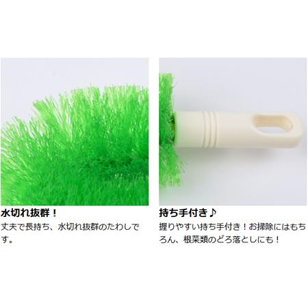绿色的刷帚小持久性手法(硬毛刷清扫工具厨房刷帚)