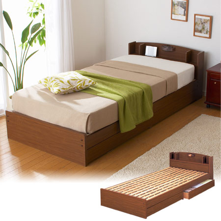 ベッド ECOロング シングル ( ベッド下 収納 送料無料 )