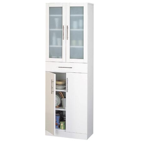 食器棚 カトレア 幅60×高さ180cm ( キッチン収納 カップボード 送料無料 しょっきだな )
