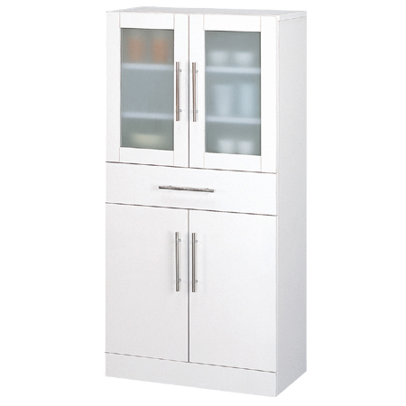 食器棚 カトレア 幅60×高さ120cm ( キッチン収納 カップボード 送料無料 しょっきだな )