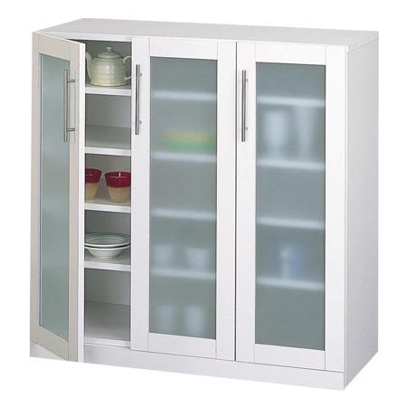 食器棚 カトレア 幅89.5×高さ90cm ( キッチン収納 カップボード 送料無料 しょっきだな )