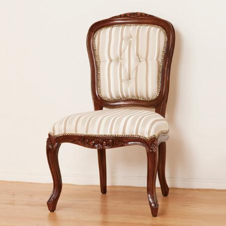 チェアー マルシェ 肘なし ( 送料無料 ダイニングチェア 椅子 アンティーク ラグジュアリー 高級 猫脚 ロココ調 クラッシック イス )