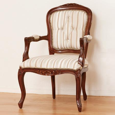 チェアー マルシェ 肘付き ( 送料無料 ダイニングチェア 椅子 アンティーク ラグジュアリー 高級 猫脚 ロココ調 クラッシック イス )