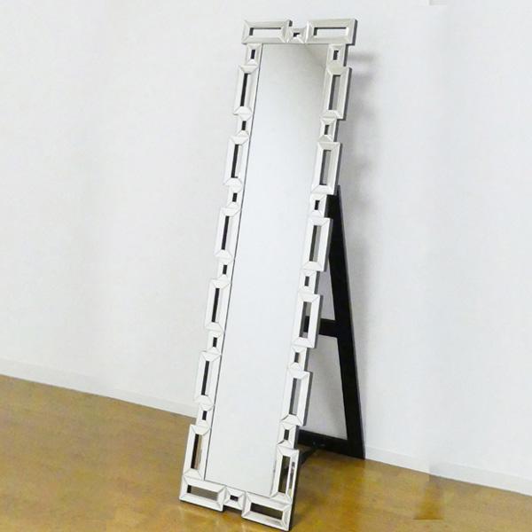 姿見 スタンディングミラー 角 ( 送料無料 鏡 全身鏡 ミラー ドレッサー 全身ミラー ウォークインクローゼット 玄関 洗面所 )