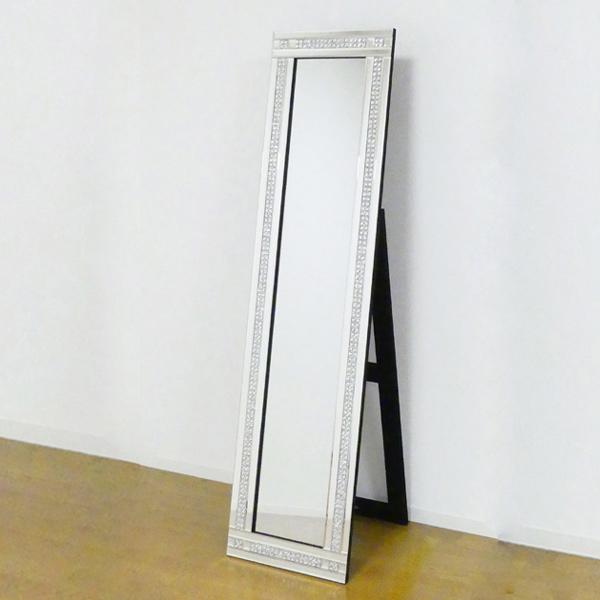 姿見 スタンディングミラー 2ライン ( 送料無料 鏡 全身鏡 ミラー ドレッサー 全身ミラー ウォークインクローゼット 玄関 洗面所 )
