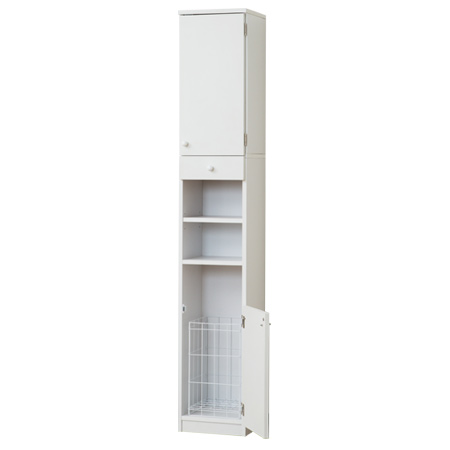 Exceptionnel Laundry Storage Shelf Slim Width 31 Cm 180 Cm High Basket With White (wash  Basket Slim Lacks Toilets Sanitary Storage Wood About 30 Cm Wide)