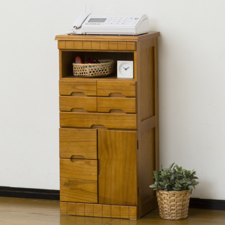 livingut rakuten global market phone fax table natural wood tung