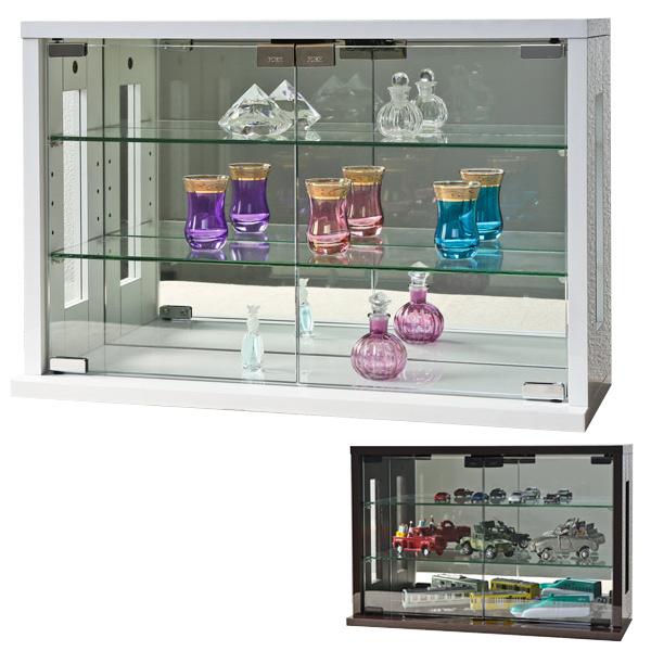 卓上コレクションケース 横型 ガラス 幅60cm ( 送料無料 コレクションラック 卓上 収納 ディスプレイケース 飾り棚 フィギュア フィギュアケース 透明 ケース 棚 )