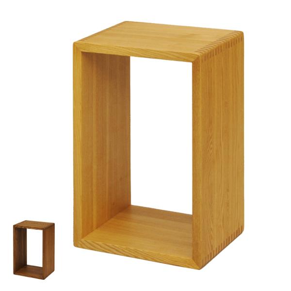 オープンラック 無垢材 ボックス型 60×40cm ( 送料無料 棚 ラック ディスプレイラック 収納 ディスプレイ 本棚 収納ボックス 収納棚 天然木 木製 2個セット セット 二個組 )