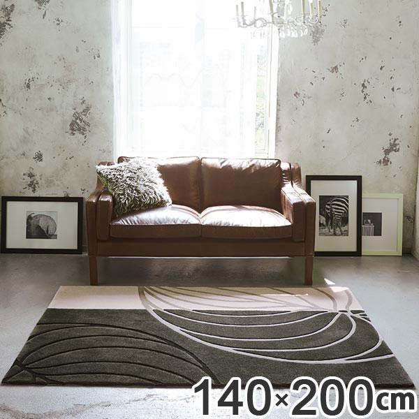 ラグ 140×200 約1.5畳 厚手 防ダニ ホットカーペット対応 TOR3861 ( 送料無料 ラグマット カーペット じゅうたん 絨毯 敷物 マット 北欧 おしゃれ リビング フローリング 長方形 1畳半 リーフ柄 )
