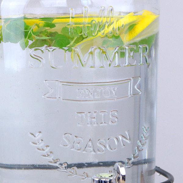 ドリンクサーバー3L スタンド付 ガラス 蛇口付き 2個セット ピッチャー 水差し ( 梅酒 果実酒 ウォーターサーバー ガラス瓶 ガラス製 瓶 サングリア ジュース作り ドリンクディスペンサー )