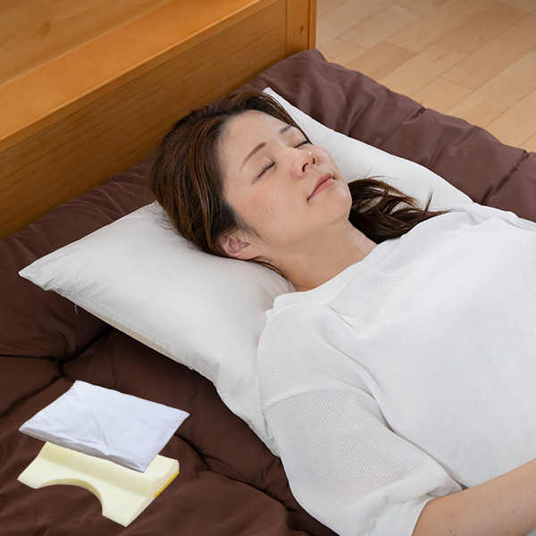 枕 肩まで支えるまくら 耐圧分散 カバー付 日本製 ( 送料無料 まくら 横向き 寝返り 肩こり ねがえり 洗える ピロー 快眠 安眠 低反発 国産 寝具 ウレタン )