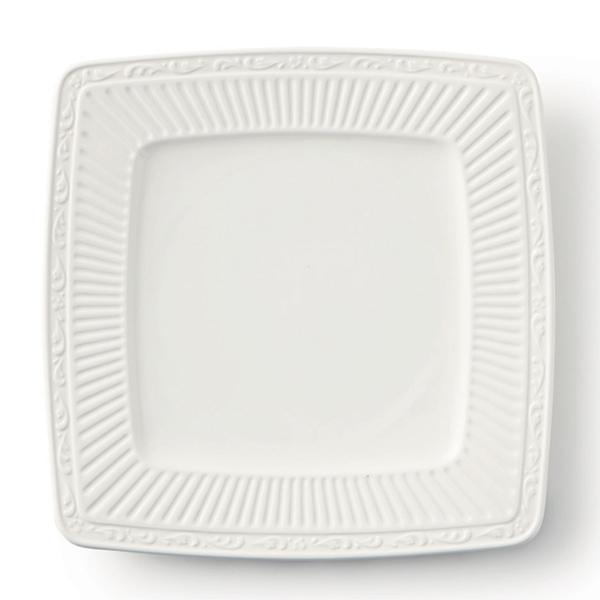 プレート 23cm イタリアンカントリーサイド スクエアプレート 洋食器 硬質陶器 同色6枚セット (  皿 食器 器 お皿 電子レンジ対応 食洗機対応 オーブン対応 中皿 白 おしゃれ 食洗機可 電子レンジ可 レンジ可 )