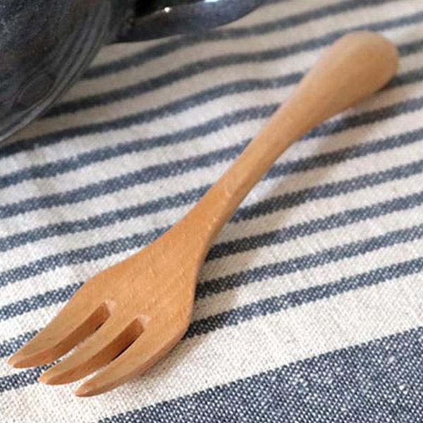 Natural Wooden Dinnerware Set Wood Spoon and Fork Dessert Tableware Flatware