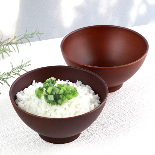 電子レンジも食洗機も使える樹脂製食器シリーズ お茶碗 12cm SEE プラスチック 食器 日本製 おしゃれ ( 電子レンジ対応 食洗機対応 木製風 茶わん 木目調 ライスボウル 茶碗 ごはん カフェ風 割れにくい )