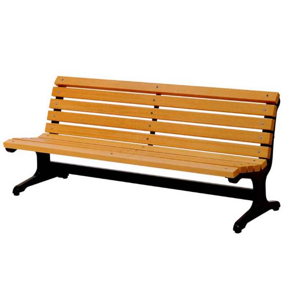 木製ベンチ 肘なし 180cm 3~4人掛け ( 送料無料 長椅子 屋内 屋外 公共施設、ホテル、レジャー施設、冠婚葬祭施設、複合施設 )