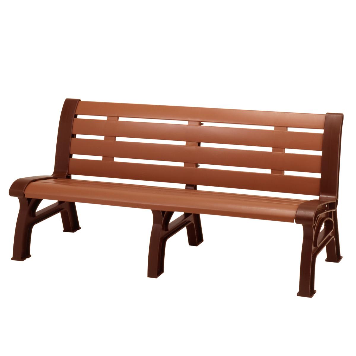 木調エコベンチ 再生樹脂製 160cm ブラウン 2~3人掛け ( 送料無料 長椅子 屋内 屋外 公共施設、ホテル、レジャー施設、冠婚葬祭施設、複合施設 )