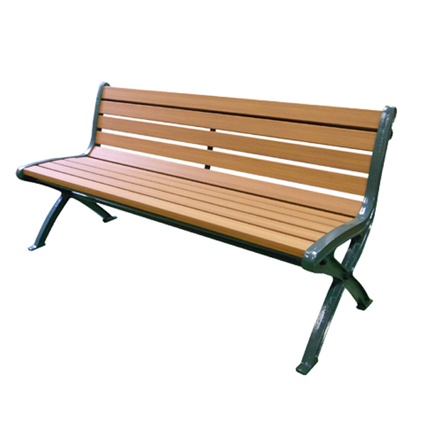 木調ベンチ 再生樹脂製 肘なし 150cm ライトブラウン 2~3人掛け ( 送料無料 長椅子 屋内 屋外 公共施設、ホテル、レジャー施設、冠婚葬祭施設、複合施設 )