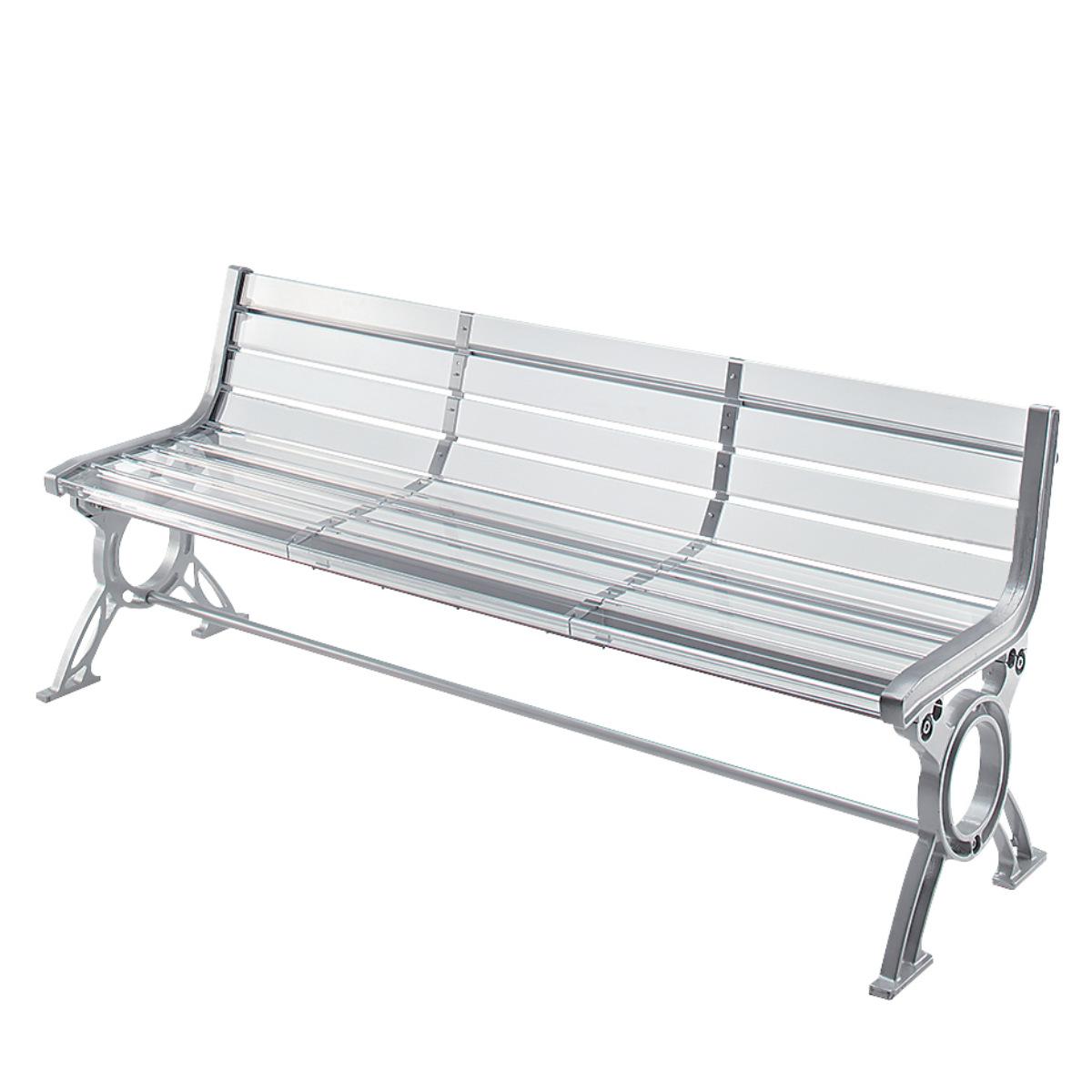 アクリル樹脂ベンチ 透明エアーベンチ 肘なし 1.8m 3~4人掛け用 ( 送料無料 長椅子 屋内 屋外 公共施設、ホテル、レジャー施設、冠婚葬祭施設、複合施設 )