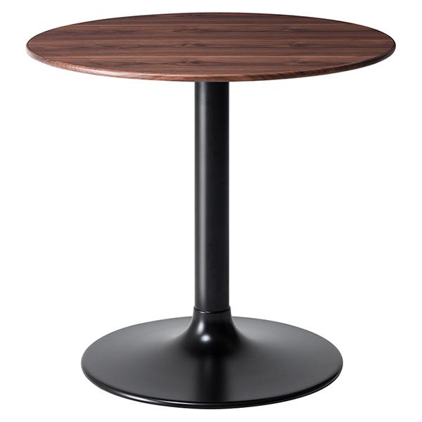 テーブル 円形 ダイニングテーブル ウォールナット LIETO 直径80cm ( 送料無料 カフェテーブル つくえ 机 開梱設置 開梱設置無料 コーヒーテーブル 丸 木製 木目 ハイテーブル リビングテーブル )