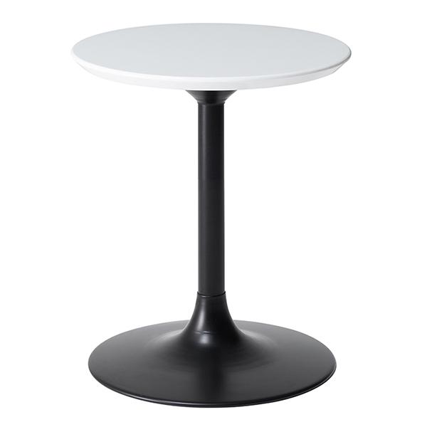 サイドテーブル 円形 ハイタイプ LIETO 直径40cm ( 送料無料 テーブル カフェテーブル 机 開梱設置 開梱設置無料 コーヒーテーブル 丸 鏡面 ミニテーブル ハイテーブル リビングテーブル )