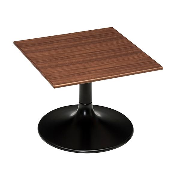 ローテーブル 正方形 リビングテーブル ウォールナット LIETO 70cm角 ( 送料無料 テーブル センターテーブル 机 開梱設置 開梱設置無料 コーヒーテーブル カフェテーブル スクエア 木製 木目 )