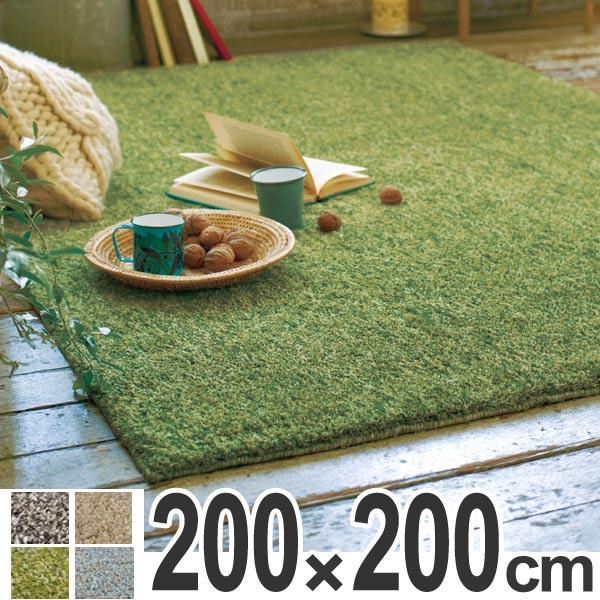 ラグ シャギーラグ ムック 200×200cm ( 送料無料 ラグマット シャギー 洗える 北欧 カーペット 絨毯 じゅうたん ホットカーペット対応 おしゃれ ふわふわ 速乾性 吸収性 )