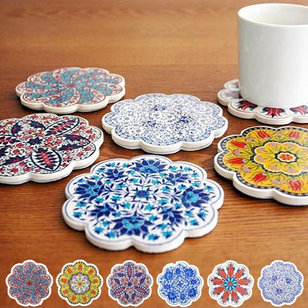 Livingut Rakuten Global Market Coaster IZNIK Iznik Tile Coasters - Coasters made from photos