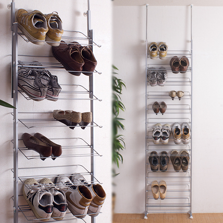 Prop Wall Shoe Rack Width 53 Cm Share Out Storage Shelves Thin Bo Stretching 突pa Or P25jan15