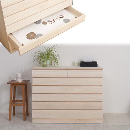 桐洋風チェスト 6段 白木 ( 桐箪笥 桐タンス 着物収納 桐たんす 日本製 国産 完成品 送料無料 )
