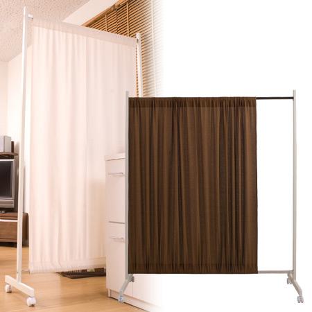 間仕切りカーテンパーテーション 幅64.5cm 高さ180.5cm ( パーティション キャスター 衝立 スクリーン 間仕切り 送料無料 )