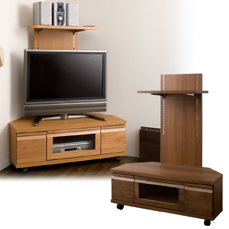 Corner Tv Board Back Panel With Av Storage Snack Make Stand Units Natural