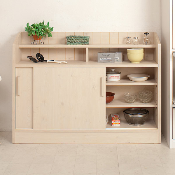 Counters Under The Sliding Door Storage 118 5 Cm Kitchen Shelves Shelf Cabinet With Living Completed Counter