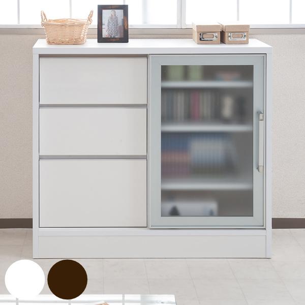 Three Steps Of Counter Lower Storing Cabinet Glass Sliding Door Drawer  Aluminum Frame 88cm In Width ...
