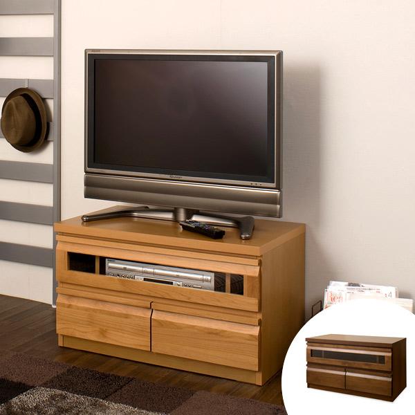 テレビ台 ローボード TVボード 天然木 アルダー 木製 幅80cm ( 送料無料 TV台 テレビボード AVボード コンパクト 引き出し付き 収納 AVボード AVラック DVD収納 リビングボード 一人暮らし )
