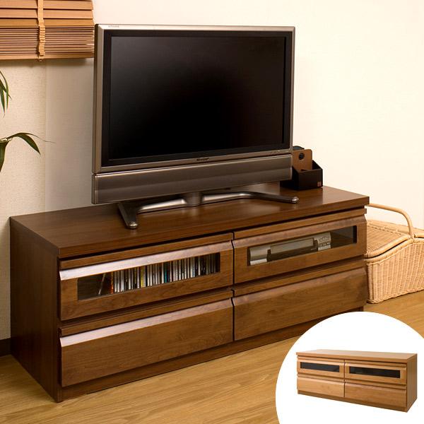 テレビ台 ローボード TVボード 天然木 アルダー 木製 幅120cm ( 送料無料 TV台 テレビボード AVボード コンパクト 引き出し付き 収納 AVボード AVラック DVD収納 リビングボード )