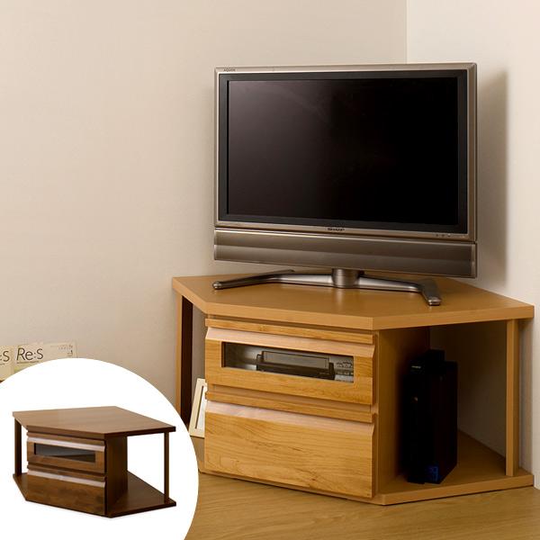 テレビ台 コーナー型 TVボード 天然木 アルダー 木製 幅110cm ( 送料無料 TV台 テレビボード AVボード コンパクト 引き出し付き 収納 コーナー収納 コーナーラック AVボード AVラック DVD収納 リビングボード 一人暮らし )