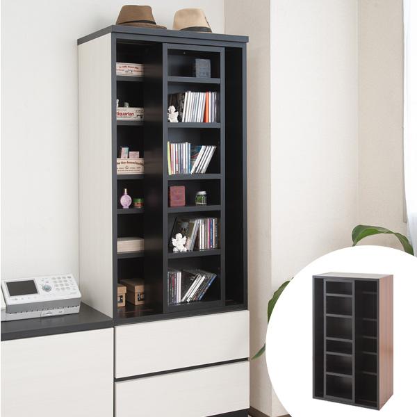 壁面収納 本棚 スライド書棚 ウォールストレージ 幅60cm   ( 送料無料 書棚 棚 収納棚 収納ラック シェルフ 多目的ラック ディスプレイラック 本棚 リビング収納 本棚 収納 ラック 棚 組み合わせ )