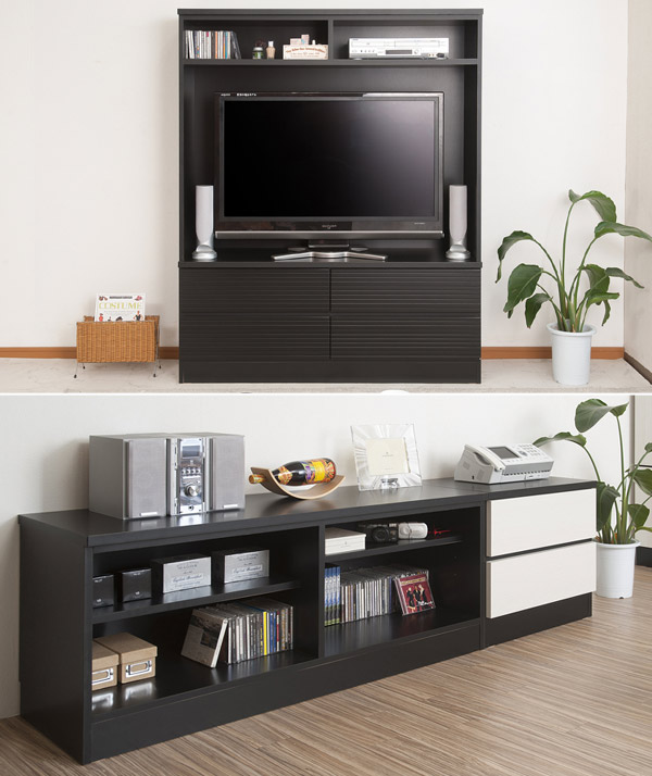 ... Lower Holder Stand Opening Rack Wall Storage 130cm In Width (low Board  TV Stand AV ...