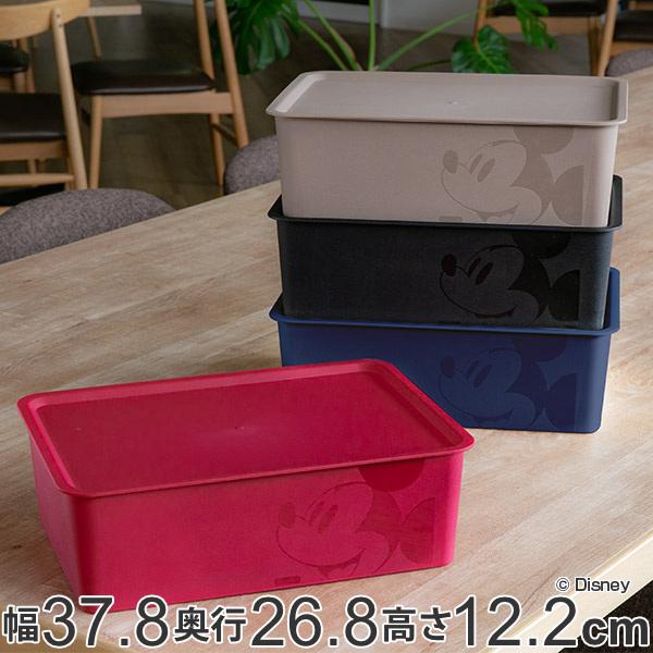 さりげないミッキーがおしゃれな収納ボックス 収納ボックス フタ付き レギュラーサイズ ミッキーマウス スクエアBOX 収納ケース 収納 小物入れ カラーボックス ふた付き Disney ボックス 箱 インナーボックス スタッキング 積み重ね ミッキー ディズニー 小物 2020 メイルオーダー 新作 プラスチック