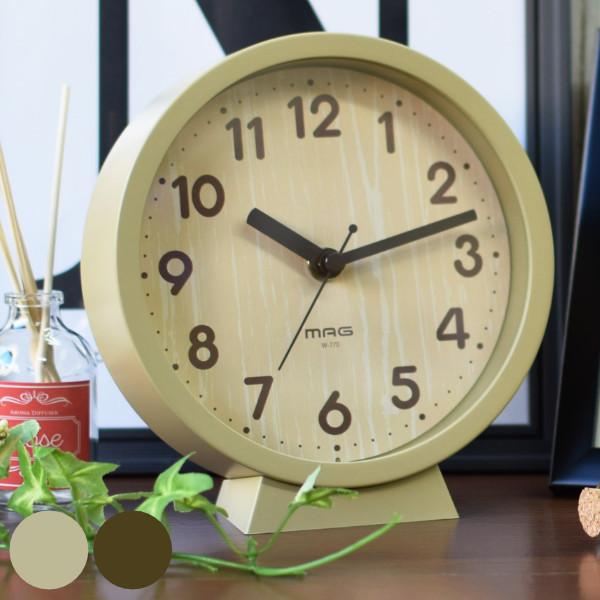 置掛兼用のウッド調ミドルサイズクロック 置き時計 掛け時計 木目調 時計 おしゃれ 壁掛け 安売り アナログ 掛時計 置時計 クロック コンパクト とけい シンプル 小さめ 書斎 オーバーのアイテム取扱☆