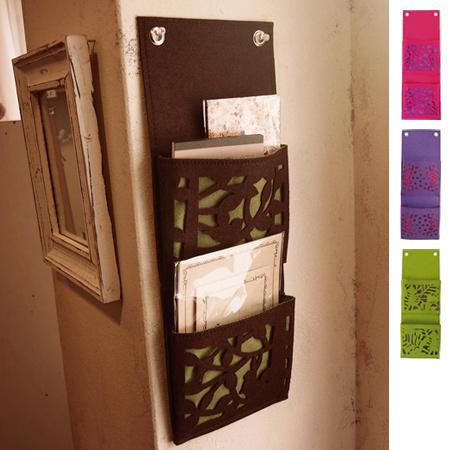 Wall Pocket mini felt wall-mounted storage pockets made of felt ? wall case hanging ... & livingut | Rakuten Global Market: Wall Pocket mini felt wall-mounted ...
