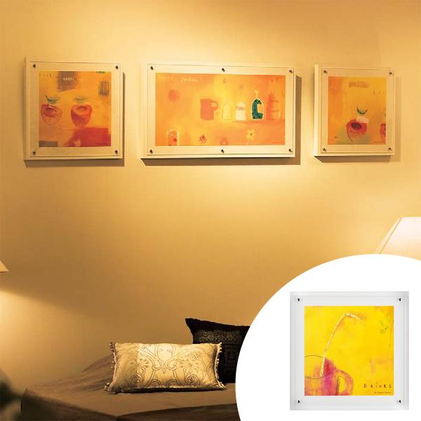 インテリアアート エマ・デイヴィス ハッピーイエロー 01 ( 送料無料 アートパネル 壁掛け 壁飾り アート アートデコ ウォールアート 絵画 インテリア 美術品 おしゃれ 引越 祝い )