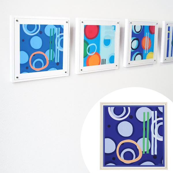 インテリアアート リー・クルー ハイパーブルー 05 ( 送料無料 アートパネル 壁掛け 壁飾り アート アートデコ ウォールアート 絵画 インテリア 美術品 おしゃれ 引越 祝い )