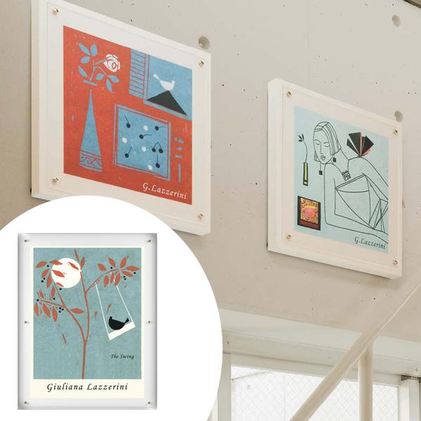 インテリアアート ジュリアーナ・ラッツェリーニ オシャレカラー 02 ( 送料無料 アートパネル 壁掛け 壁飾り アート アートデコ ウォールアート 美術品 おしゃれ 引越 祝い )