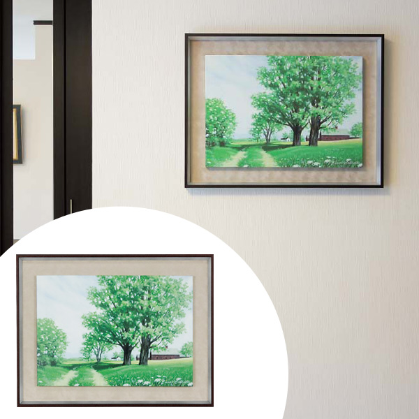 インテリアアート キャロル・コレット GREEN SCAPE 03 ( 送料無料 アートパネル 壁掛け 壁飾り アート アートデコ ウォールアート インテリア 美術品 おしゃれ 引越 祝い )