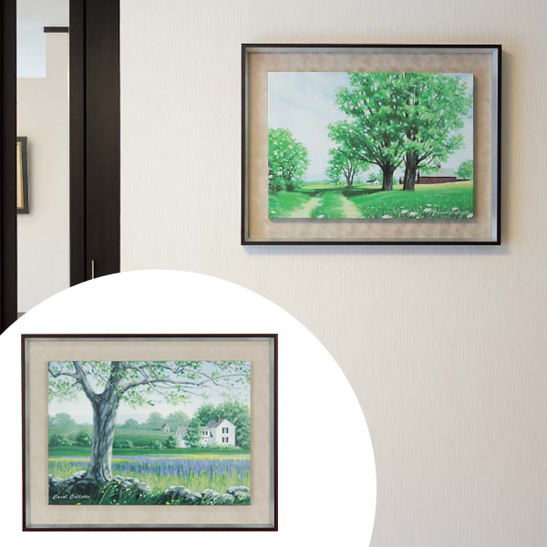 インテリアアート キャロル・コレット GREEN SCAPE 04 ( 送料無料 アートパネル 壁掛け 壁飾り アート アートデコ ウォールアート インテリア 美術品 おしゃれ 引越 祝い )