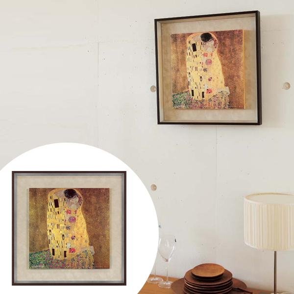 インテリアアート グスタフ・クリムト 接吻 ( 送料無料 アートパネル 壁掛け 壁飾り アート アートデコ ウォールアート クリムト 美術品 おしゃれ 引越 祝い )