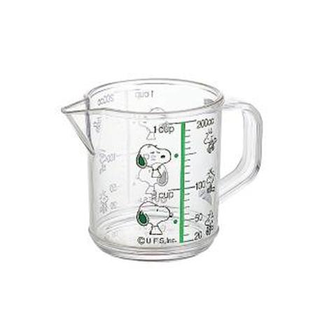 大きく見やすいメモリ付で熱湯OKのスヌーピーの計量カップ キッチンツール 計量カップ 超激得SALE メジャーカップ 200ml 公式通販 SNOOPY スヌーピー